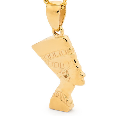 64976 gold nefertiti pendant third product image thumb no presentation box gold nefertiti pendant mozeypictures Gallery