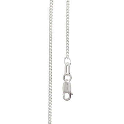Light Silver Curb Link Chain - 40 cm
