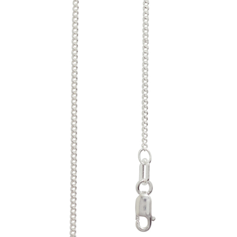 Light Silver Curb Link Chain - 50 cm