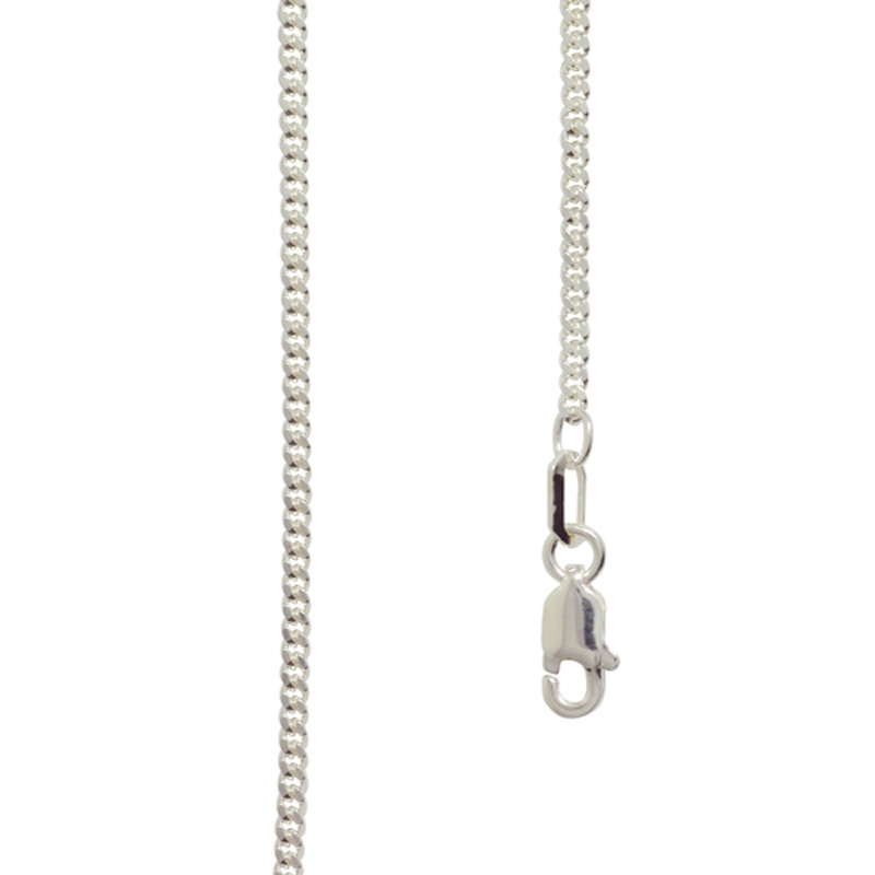 45 cm Sterling silver curb link chain
