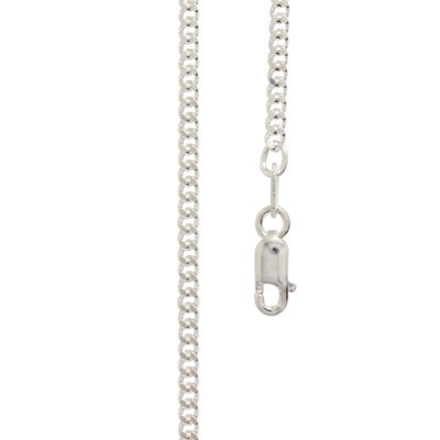 Sterling Silver curb link necklace 40 cm