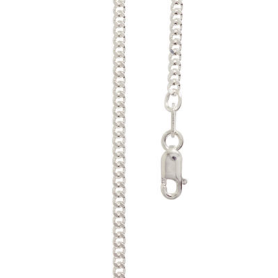 Sterling Silver curb link necklace 50 cm