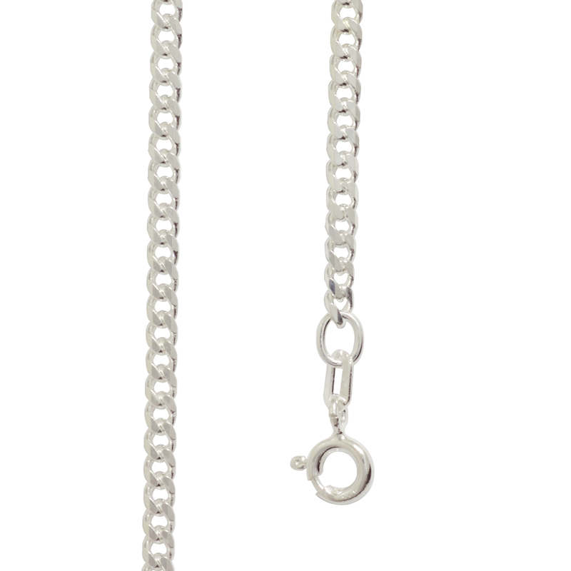 Sterling Silver curb link necklace 45 cm