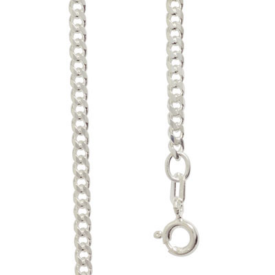 Sterling Silver curb link necklace 55 cm