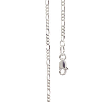 Silver Figaro Link Necklace - 40 cm