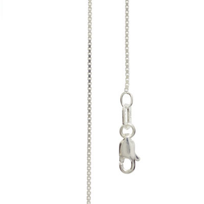 Silver Box Link Necklace - 40 cm