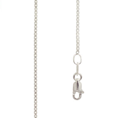 Silver Box Chain Necklace - 40 cm