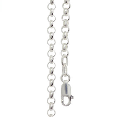 Sterling silver belcher link necklace 50 cm