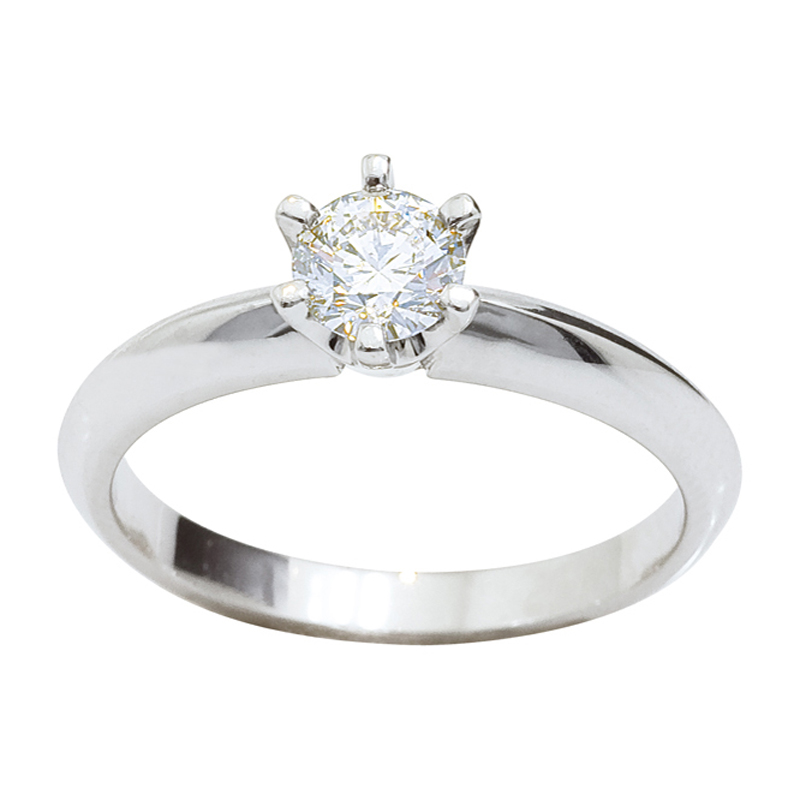 Solitaire Engagement Ring - Half Carat - White Gold