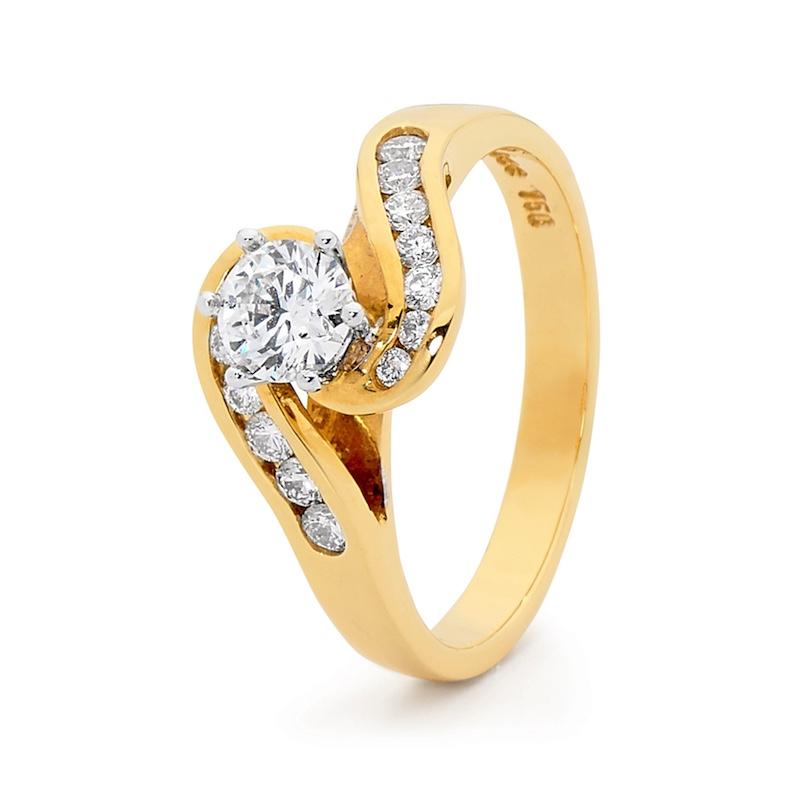 Certified Engagement Ring - 0.8 carat - Certified Diamonds