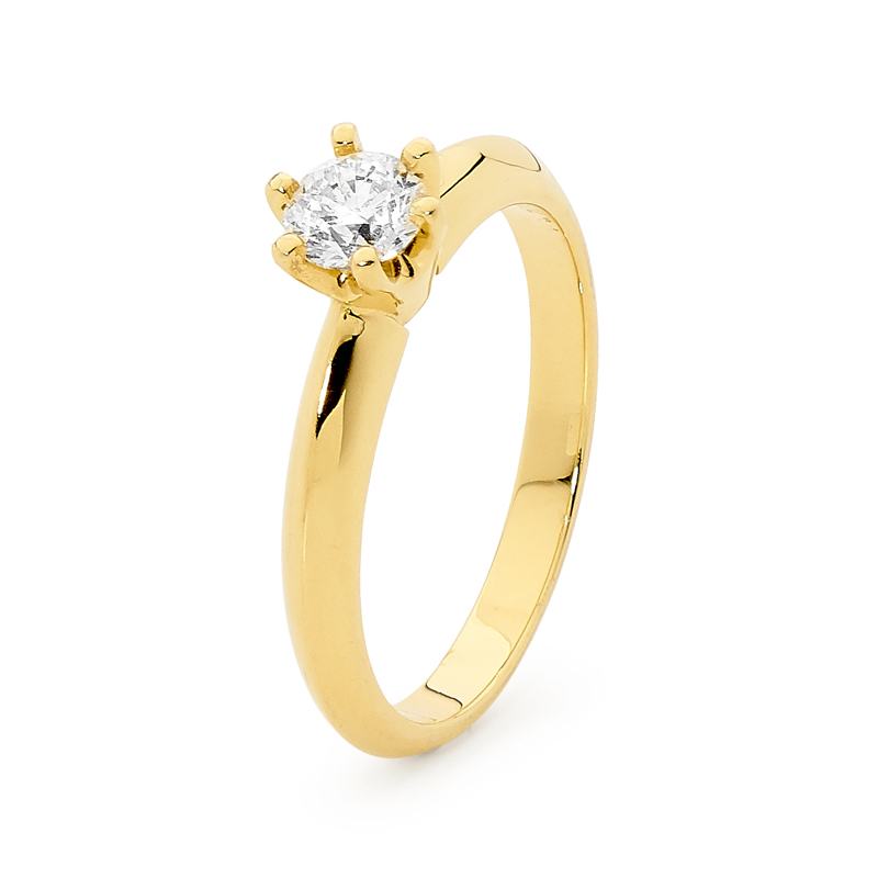 Engagement Ring - 0.50 Carat - Yellow Gold