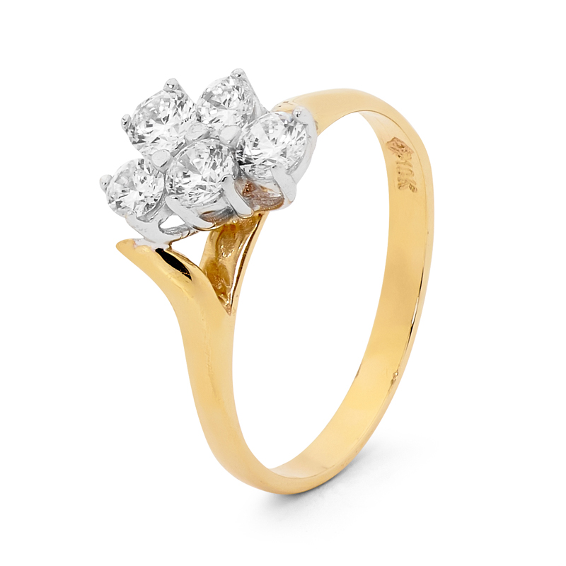Cubic Zirconia Engagement Style Ring