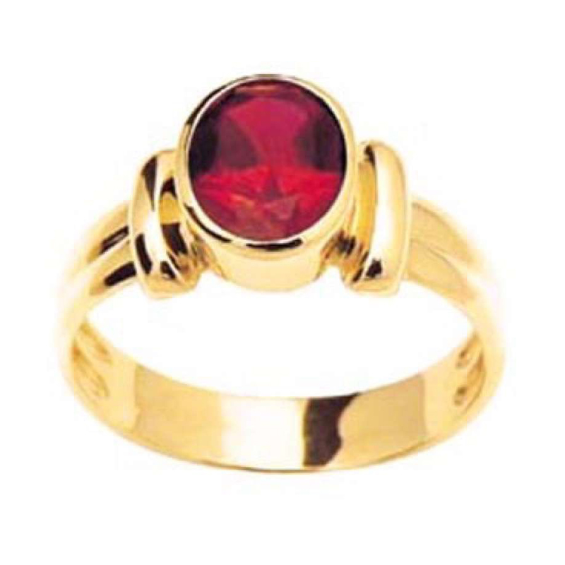 Classic French Bezel Ruby Ring
