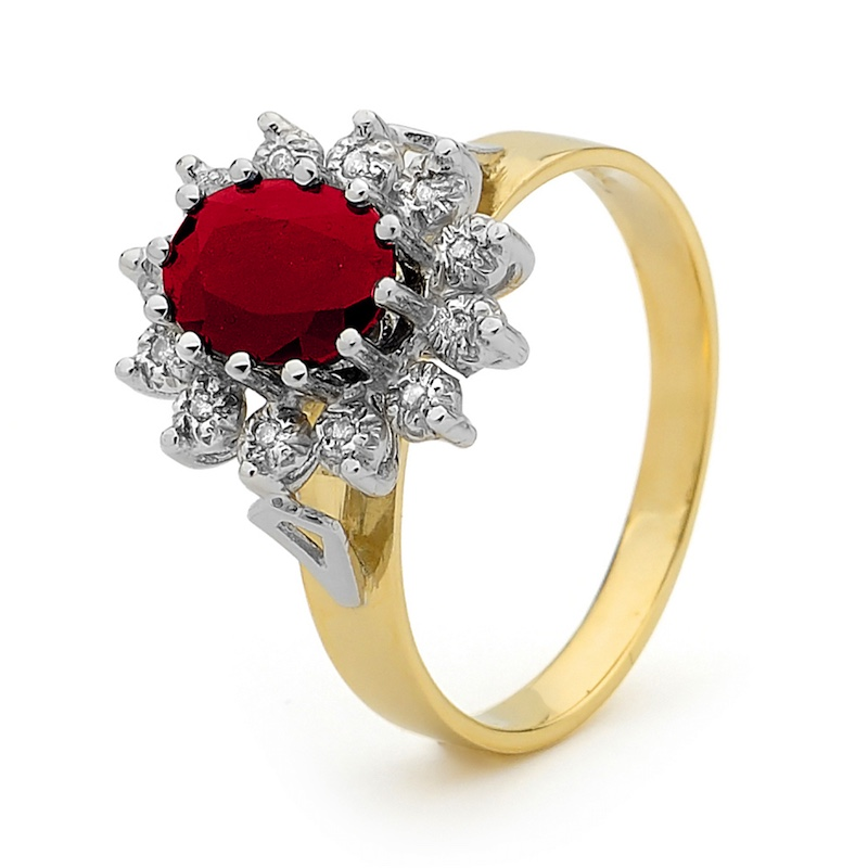 Ruby and Diamond Princess Ring (W)