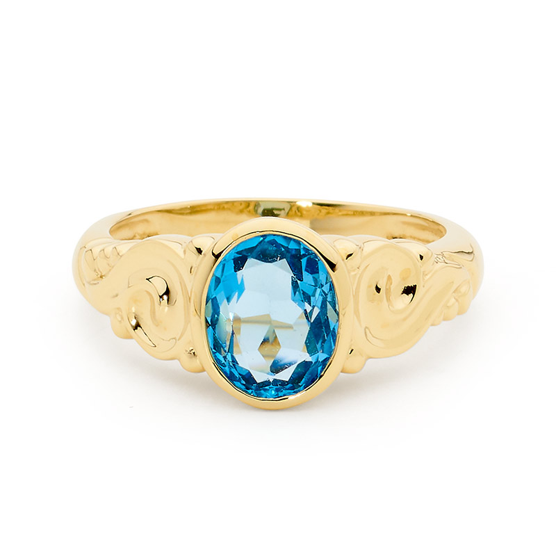 Delightful Blue Topaz Dress Ring