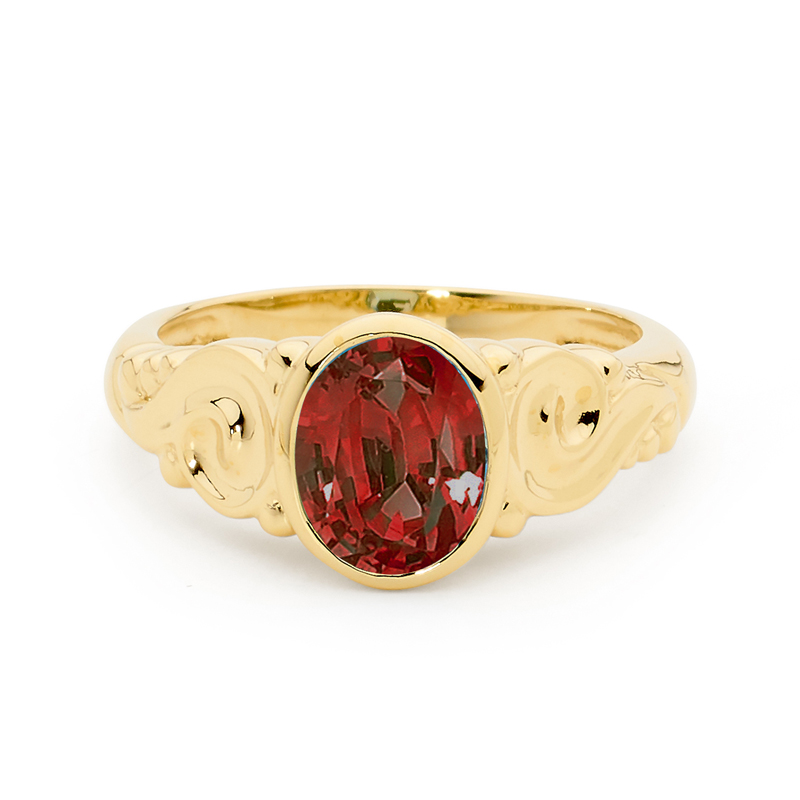 Amazing Garnet Dress Ring