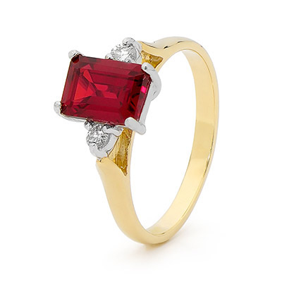 Ruby and Diamond Dress Ring (U)