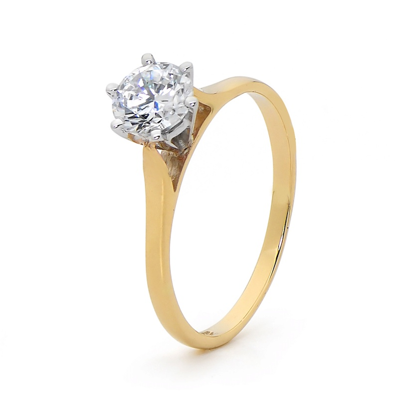One Carat Cubic Zirconia - Engagement Ring Style