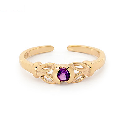 Purple Zirconia Toe Ring