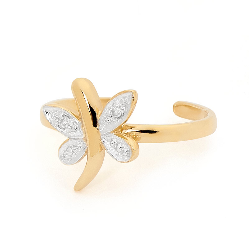Ladies Dragonfly Toe Ring