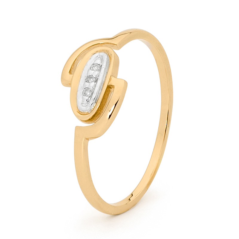 Gold and Diamond fun ring