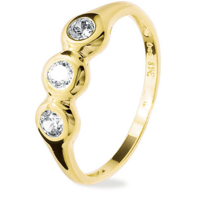 "Cubic Zirconia Ring ""Liquid Gold 3"""