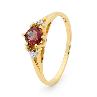 Created Ruby and Diamond Coronet Ring