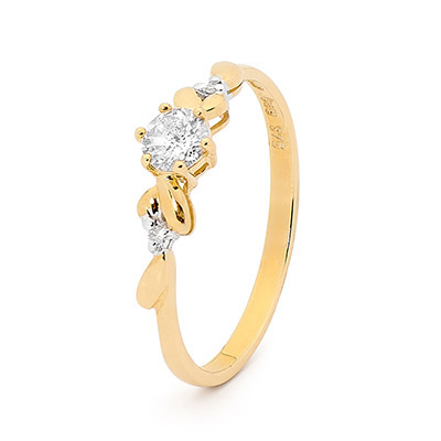 Diamond Solitaire Ring - 0.26 Carat