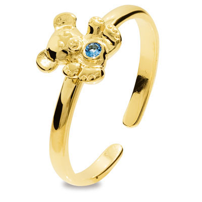 Girls First Gold Ring - Teddy