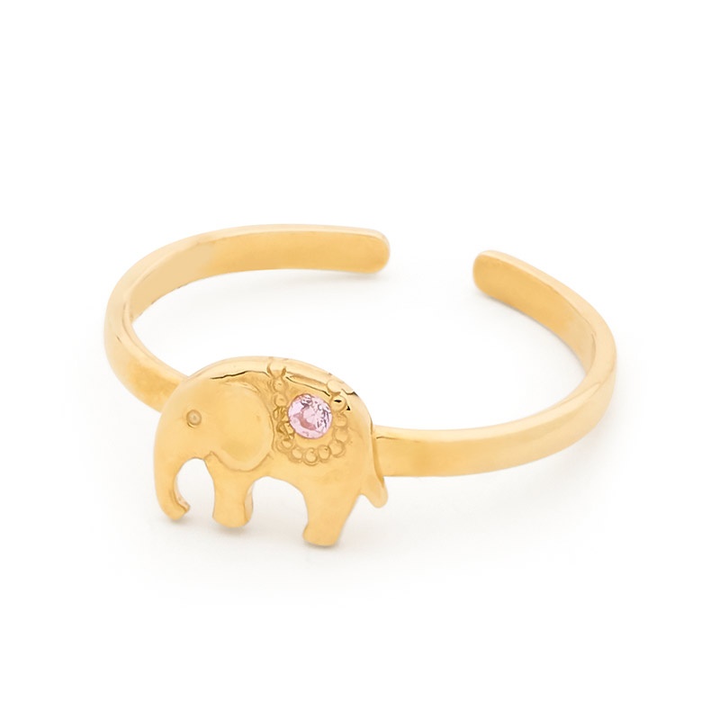 Girls First Gold Ring - Elephant