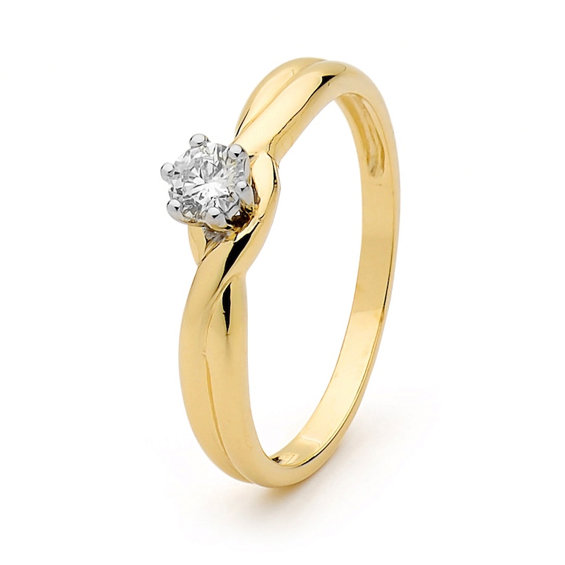 Engagement Ring  0.20ct Diamond  Eva