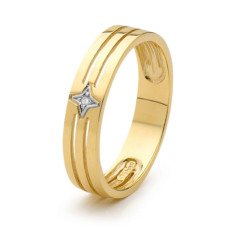 Star Set Diamond Men's Ring