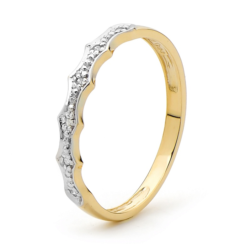 Diamond Set Yellow Gold Ring