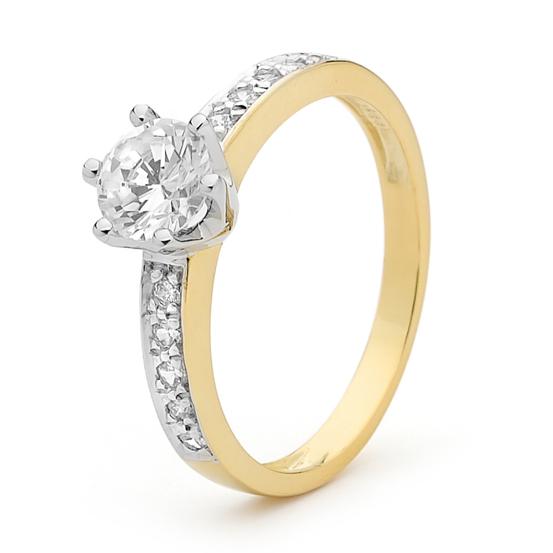 One Carat Look Cubic Zirconia Ring