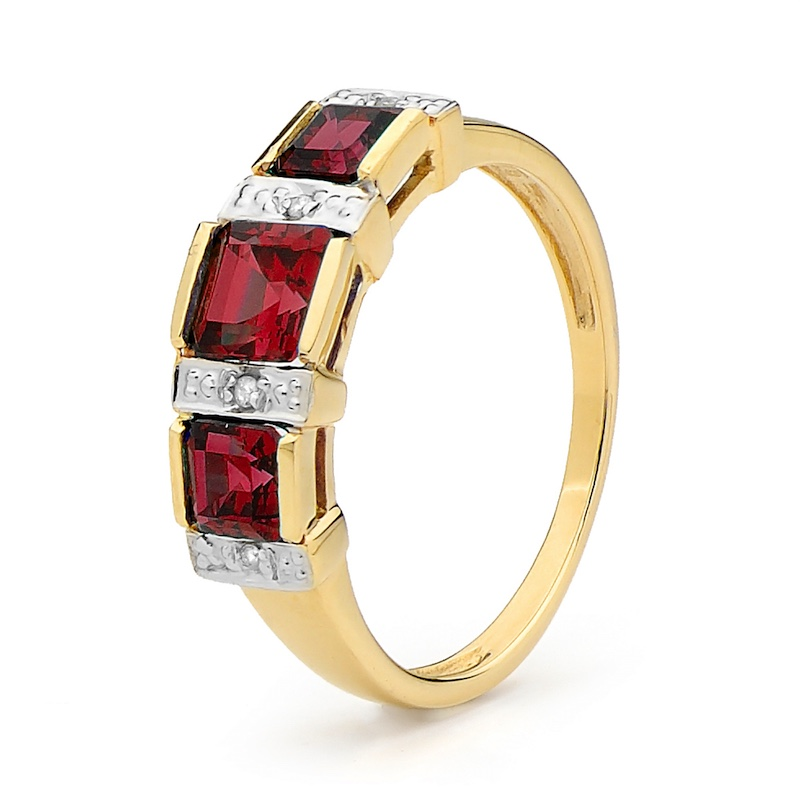 Royal Ruby and Diamond Anniversary Ring (S)