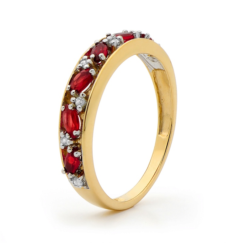 Created Ruby and Diamond Eternity Ring