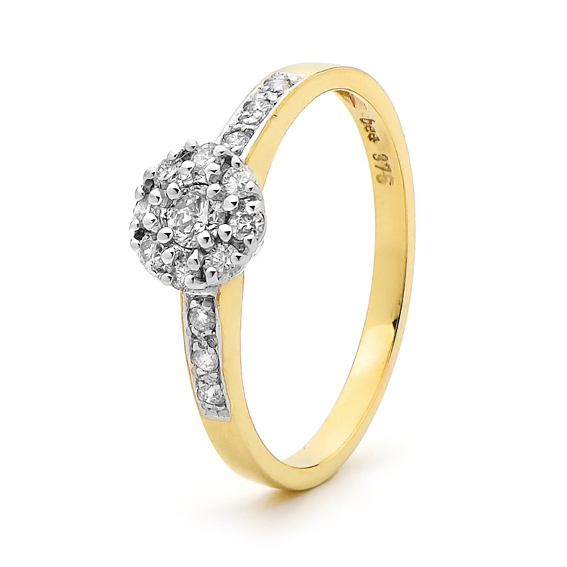 Yellow Gold Engagement Ring - Bridal - Dianne