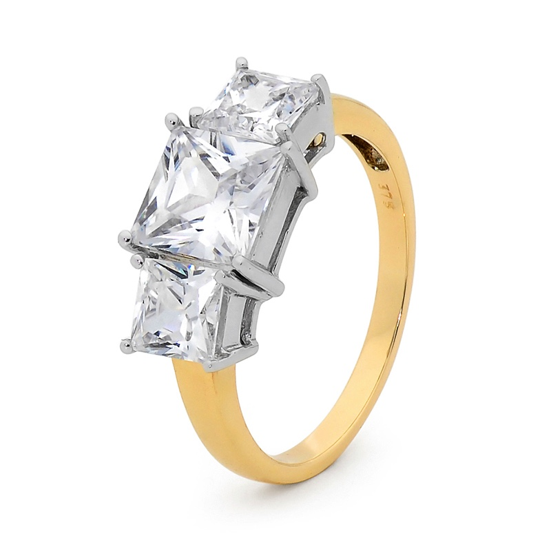 Whopping Cubic Zirconia Engagement Ring (U)