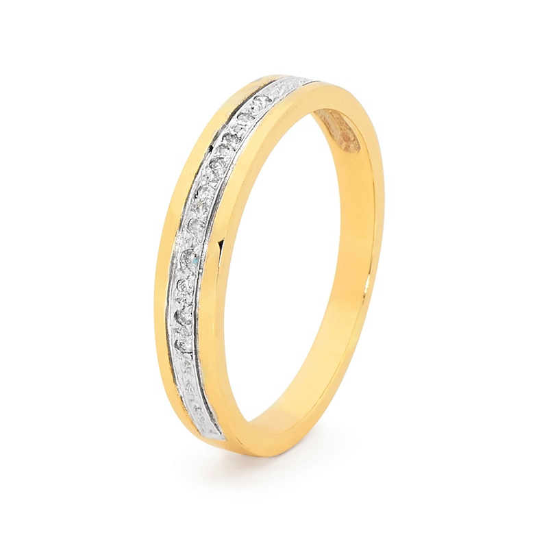10 Diamond Gold Ring Band