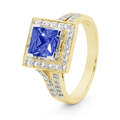 Created Sapphire Dress Ring
