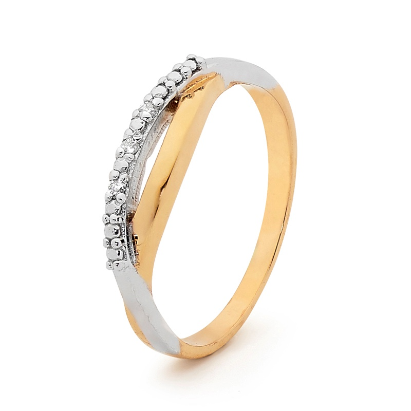 Diamond Studded Relationship Ring