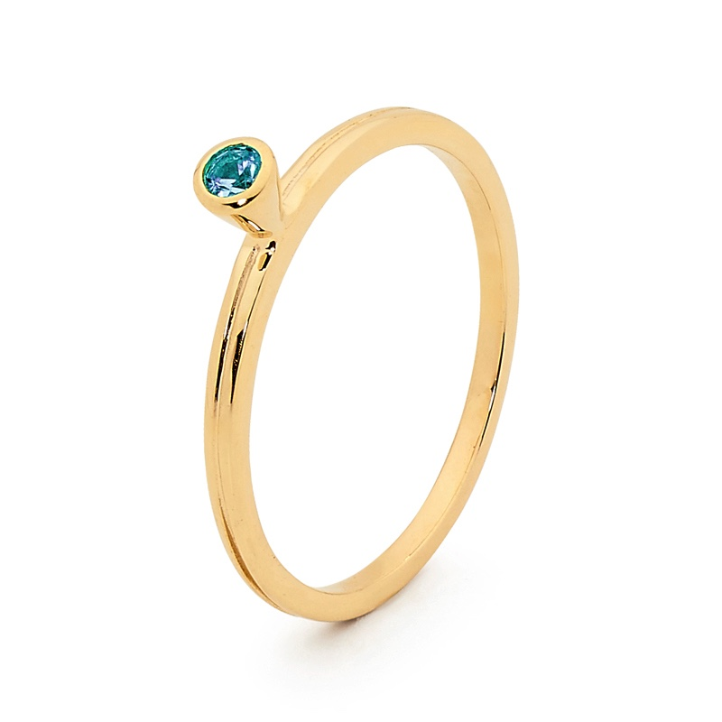 Stackable Fun Ring with Blue Topaz