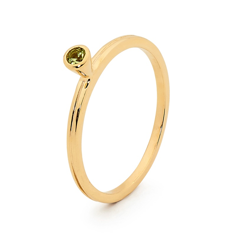 Stackable Fun Ring with Peridot