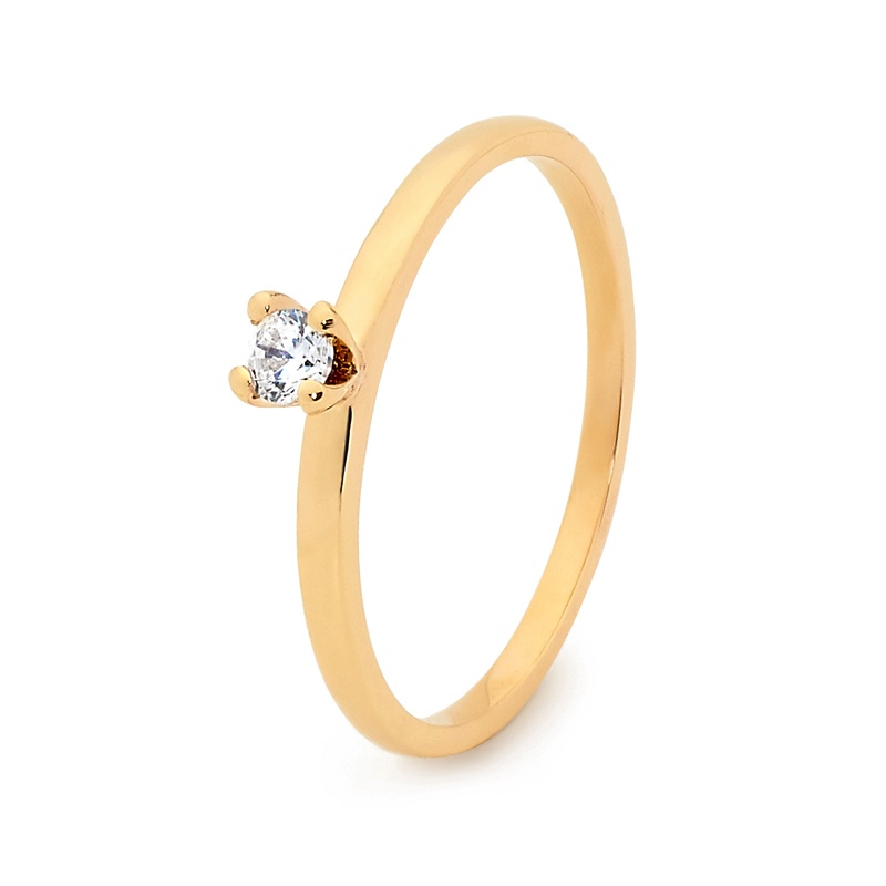 Stackable Fun Ring with Cubic Zirconia