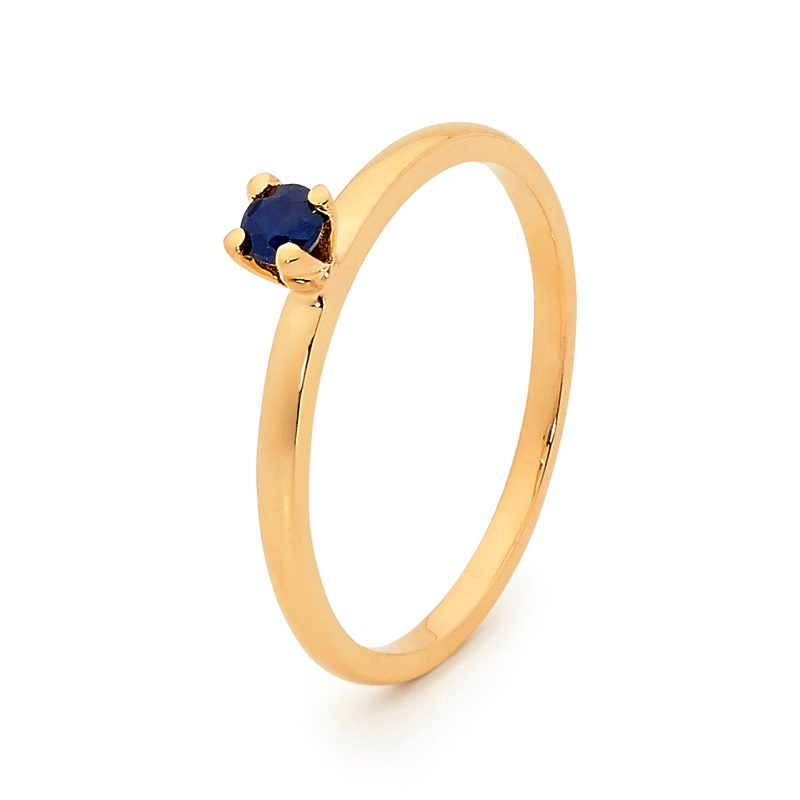 Stackable Fun Ring with Sapphire