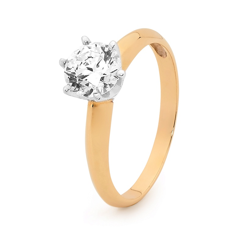 One Carat CZ Engagement Ring