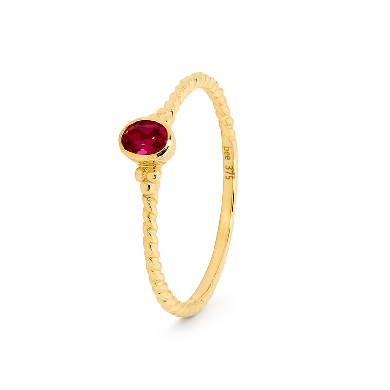 Red Cubic Zirconia Ring - Micro Gems