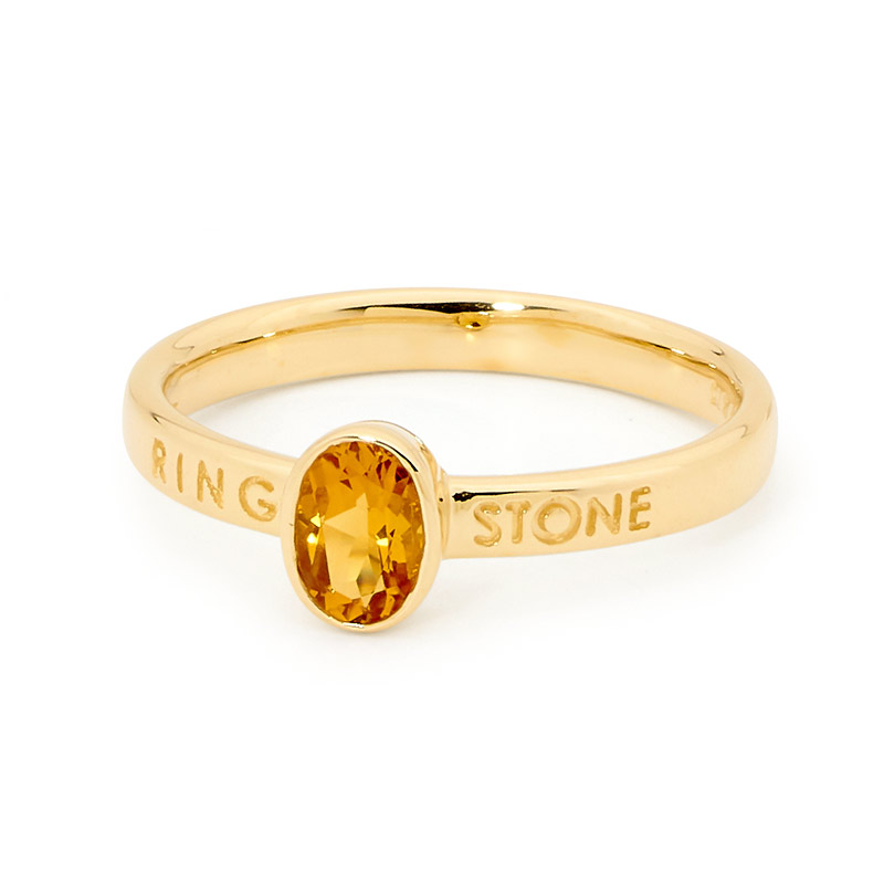 Ring & Stone Ladies Oval Citrine