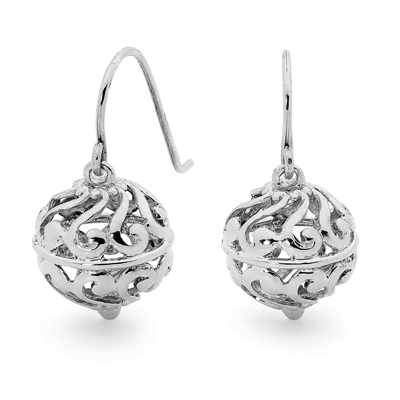 Sterling Silver filligree ball earrings