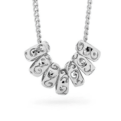 """Seven Rings of Luck"" with Sterling Silver Chain"